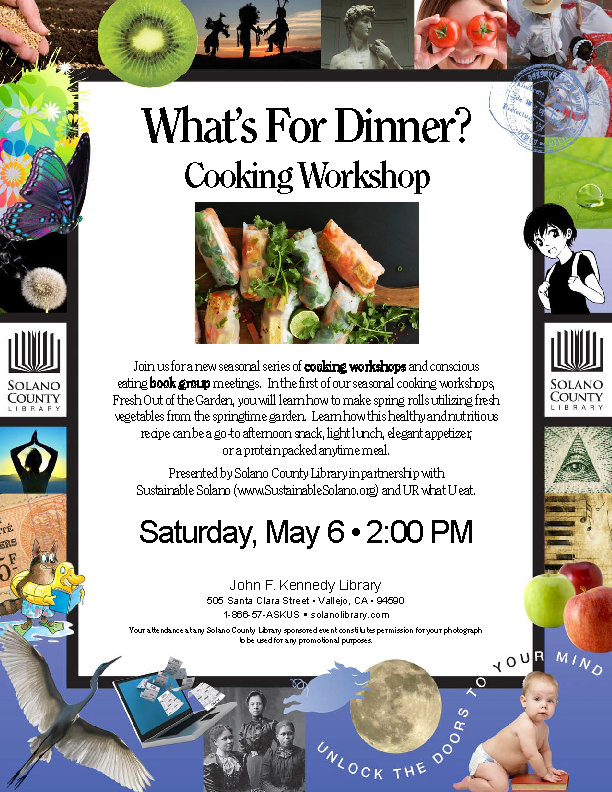 What's For Dinner? Cooking Workshop and Bookclub @ John F. Kennedy Library