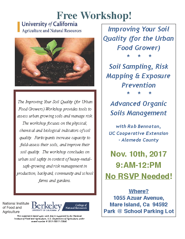 Improving Your Soil Quality (For the Urban Food Grower) @ Lord's Fellowship Church (in front of Vallejo People's Garden)