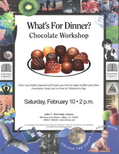 """What's For Dinner?"" Chocolate Workshop @ John F Kennedy Library"