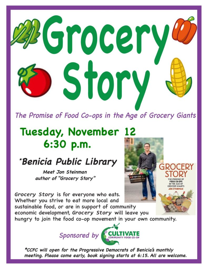 Benicia: 'Grocery Story' Book Signing Tour @ Benicia Public Library