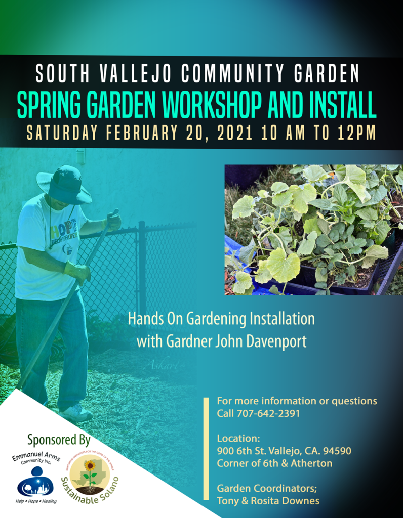 Spring Garden Workshop at South Vallejo Community Garden @ South Vallejo Community Garden